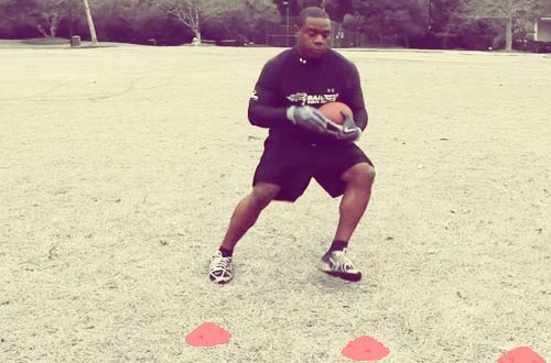 How to Train for Football With Professional Running Back Drills: Developing the Jumpcut (Video)